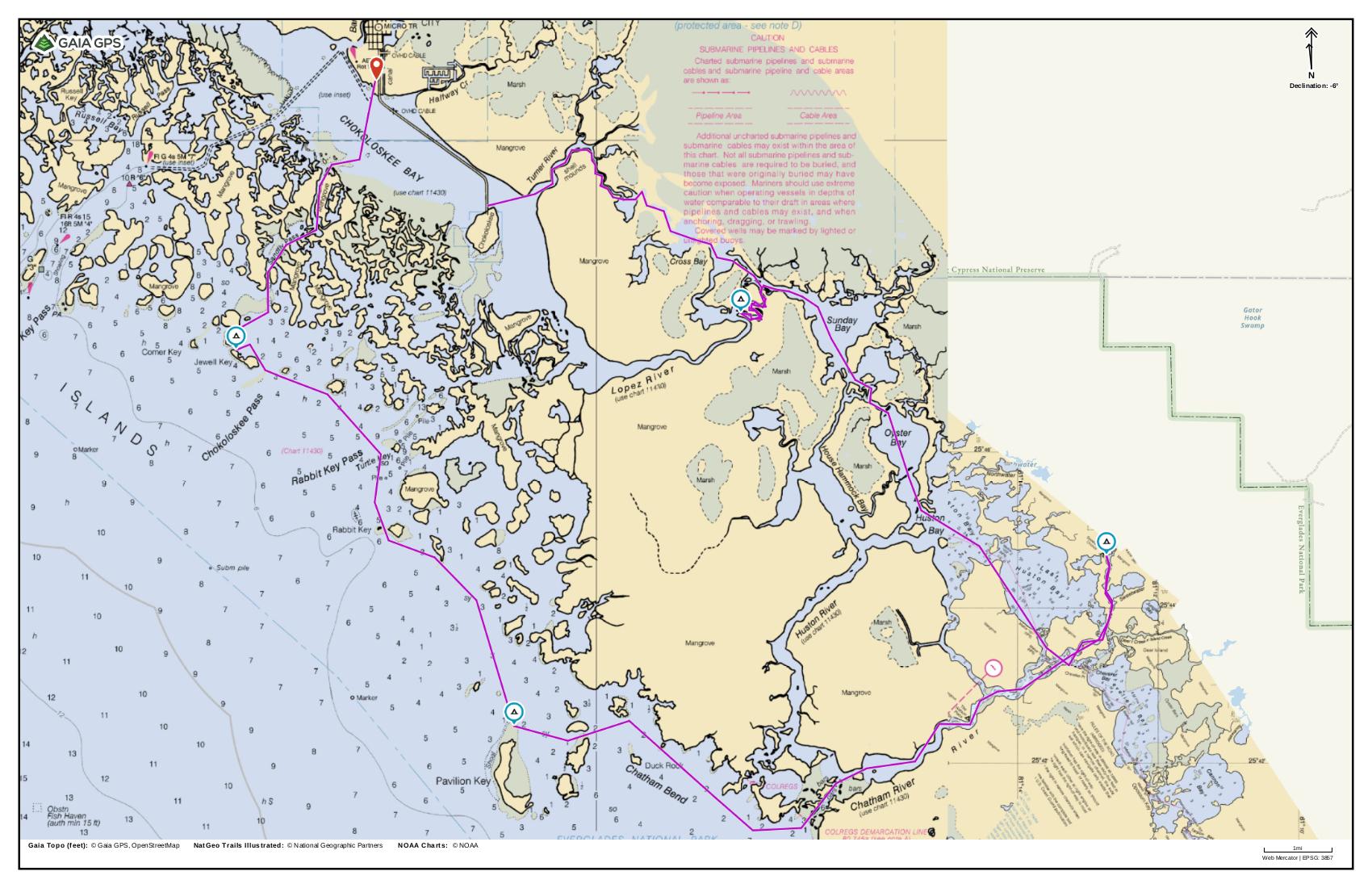 Everglades 2020 ROUTE